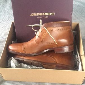 Johnston & Murphy Garner Cap Toe Boot
